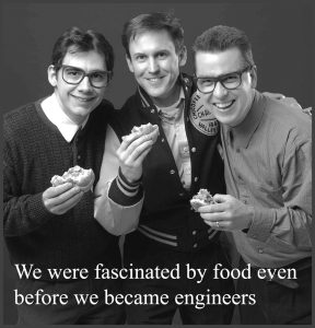 "The ""Three Geeks"", as they are affectionately known, were featured in early Dennis Group advertisements and can still be found in the senior ranks of the company."
