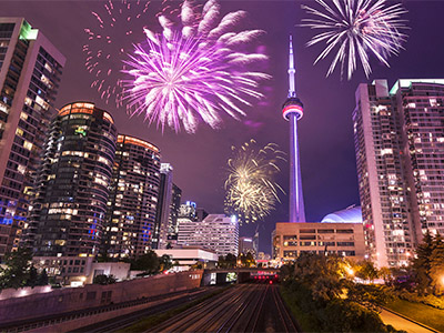Toronto night view for the new year